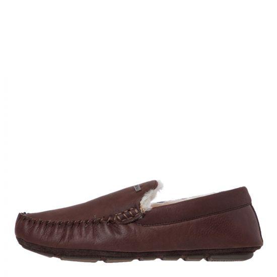 Barbour Monty Slippers | MSL0001 BR71 Dark Brown