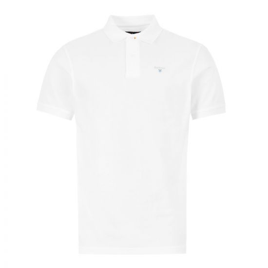 Barbour Polo Shirt MML0358 WH11 White Aphrodite1994