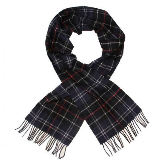 barbour scarf navy tartan lambswool usc0001 tn121