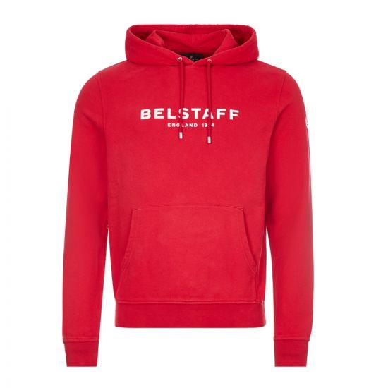 Belstaff Hoodie Logo |71130675 J61N0133 05114 Red / Off White | Aphrodite