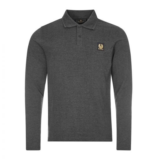 Belstaff Long Sleeve Polo | Dark Charcoal 71130633 J61N0149 90086 | Aphrodite