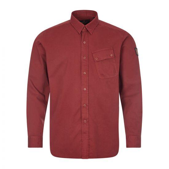 Belstaff Twill Shirt  71120237 C61A0420 50006 Burnished Red   Aphrodite