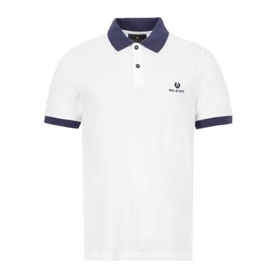 Belstaff Chichester 2 Polo Shirt - White / Navy  21617CP -1
