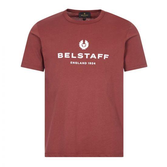 belstaff t-shirt 1924 71140319 J61N01 50009 burnished red