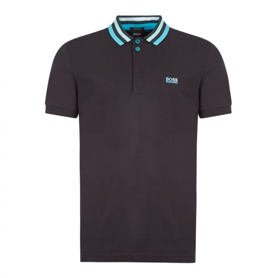 boss athleisure polo shirt paddy 1 50430630 001 black