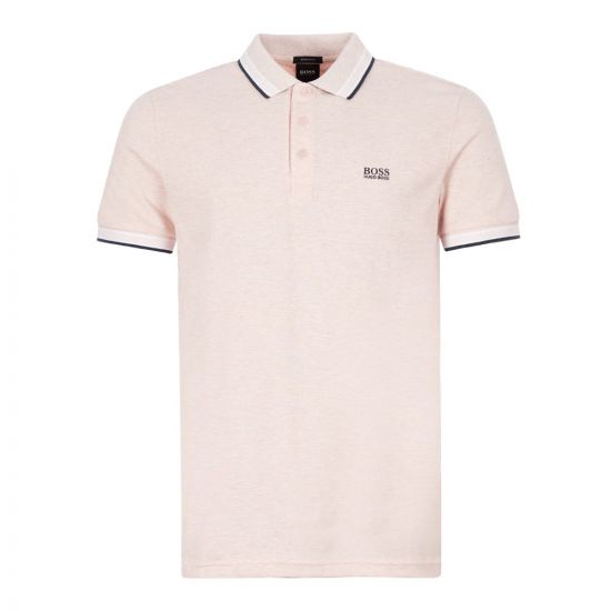 boss athleisure polo shirt paddy 50398302 684 pink
