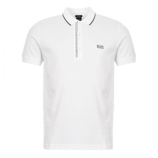 boss athleisure polo shirt 50399185 101 white