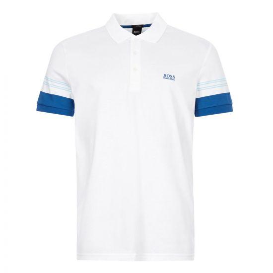 boss athleisure polo shirt paule 1 50424197 100 white