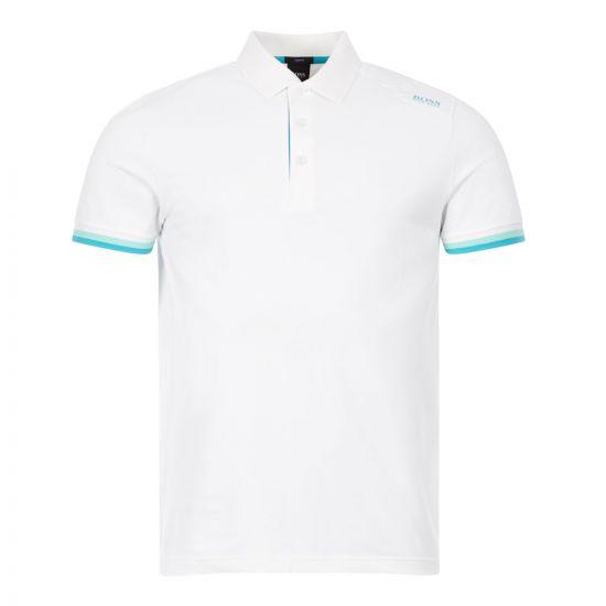 boss athleisure polo shirt paule 6 50431477 100 white