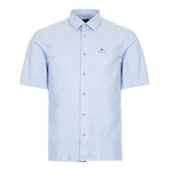 boss athleisure short sleeve shirt bruny r 50425605 423 blue
