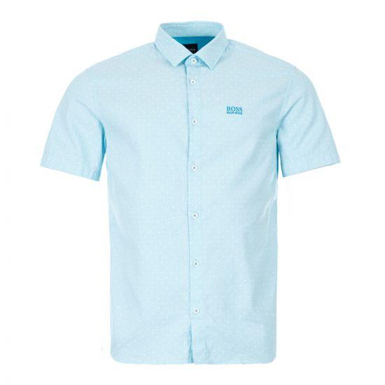boss athleisure short sleeve shirt brodi s 50431845 488 open blue