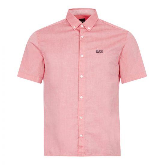 boss athleisure short sleeve shirt biadia r 50425624 620 pink