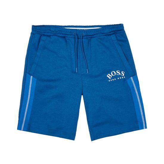 boss athleisure shorts headlo 50424218 blue