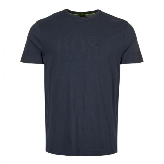 boss athleisure t-shirt 50404397 410 navy