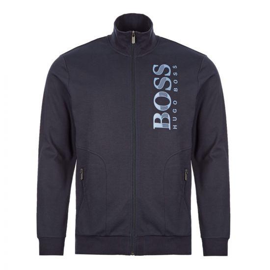 BOSS Bodywear Tracksuit Jacket | 50414671 403 Dark Navy