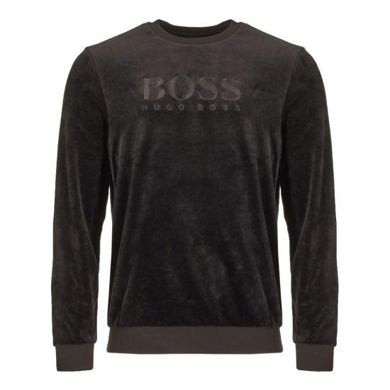 boss bodywear sweatshirt velour 50403908 001 black