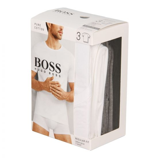 Hugo Boss Black T-Shirt 3 Pack 50325388999 In Assorted