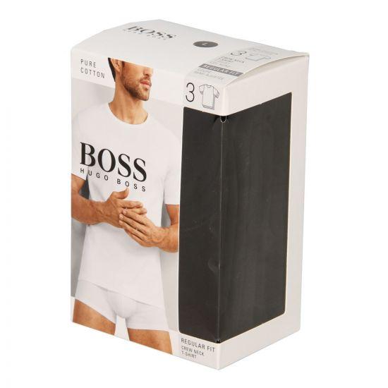 Hugo Boss Black T-Shirt 3 Pack 50325388001 In Black