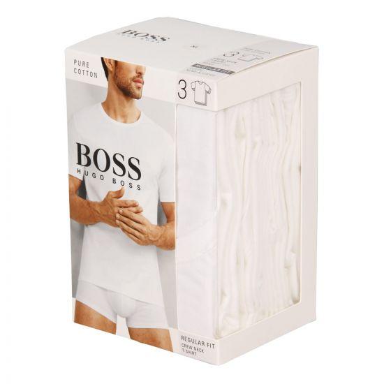 Hugo Boss Black T-Shirt 3 Pack 50325388100 In White