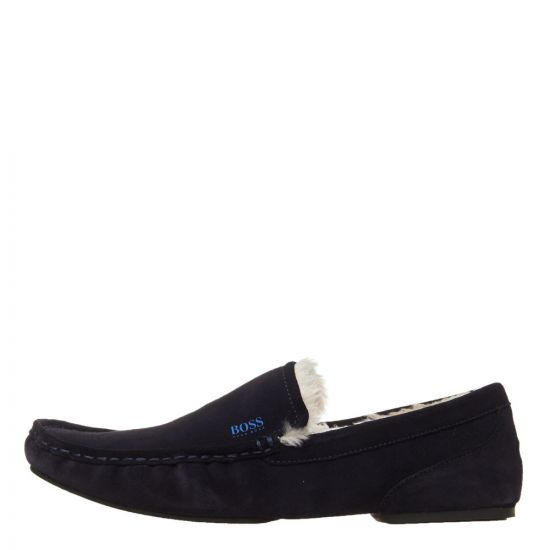 BOSS Casual Relax Moccasin Slippers 50402345 401 Dark Blue