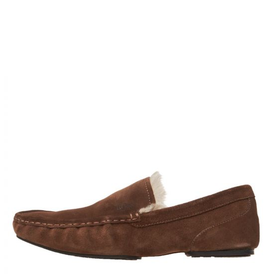 BOSS Casual Relax Moccasin Slippers 50402345 210 Medium Brown