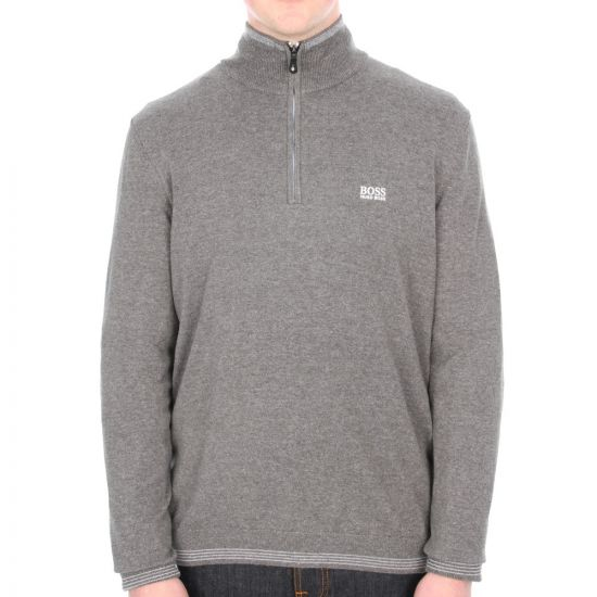 Jumper Zipped Funnel Neck Zime - Grey