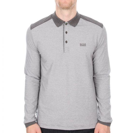 Long Sleeve Polo Plisy 3 - Grey