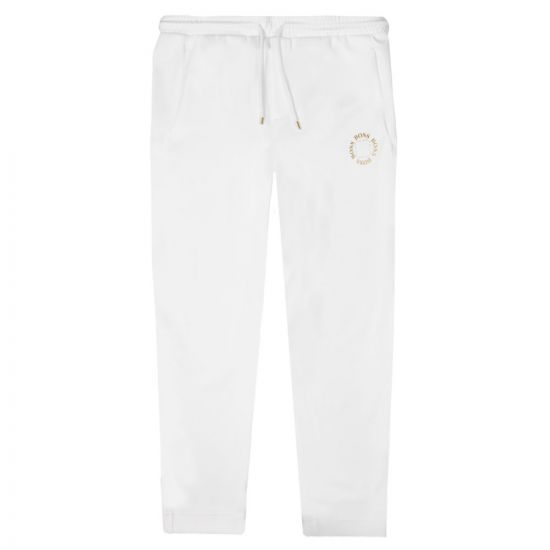 BOSS Athleisure Sweatpants Halboa Circle - White 21666CP -1