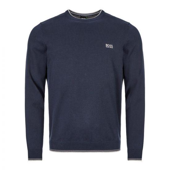 Athleisure Knitted Sweatshirt - Navy
