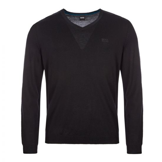 boss athleisure knitted sweatshirt vallum 1 50413721 001 black