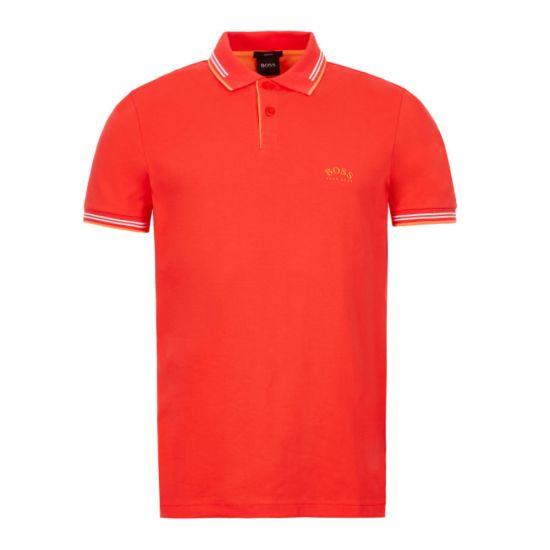 BOSS Athleisure Paul Polo Shirt - Coral 21651CP -2