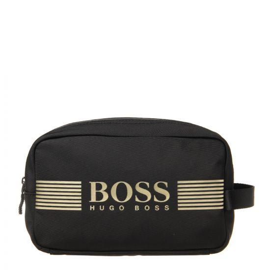 BOSS Pixel Washbag   50332714 004 Black