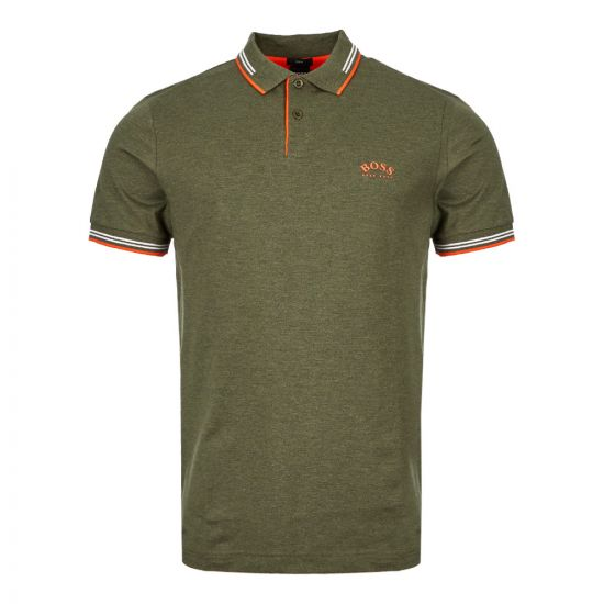 Athleisure Polo Shirt – Green / Orange
