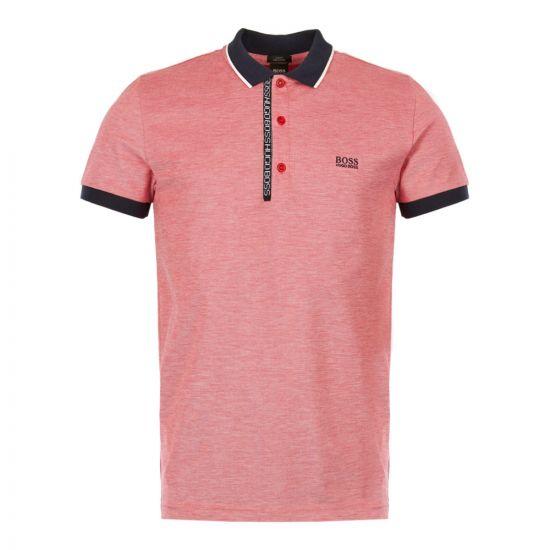 boss athleisure polo shirt paule 4 50399185 622 red