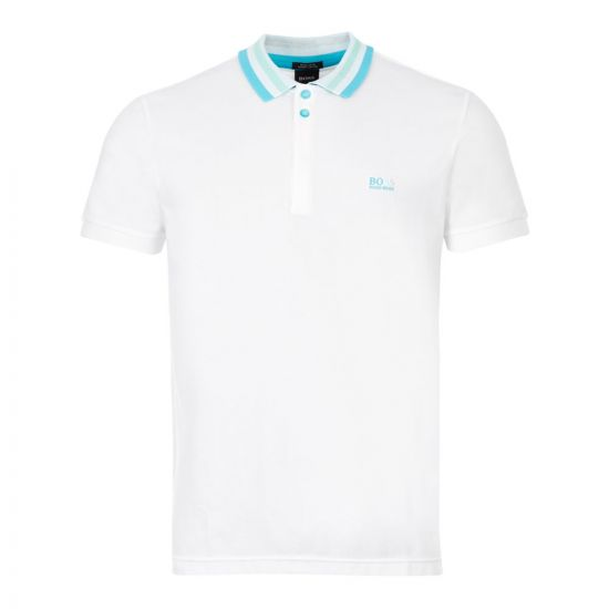 boss athleisure polo shirt paddy 1 50430630 100 white