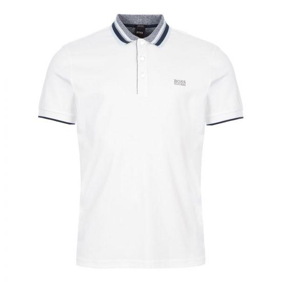 boss athleisure polo shirt paddy 1 50413759 100 white