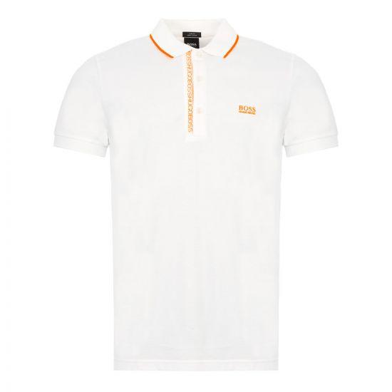 BOSS Polo Shirt Paule 4 - White 21667CP -1