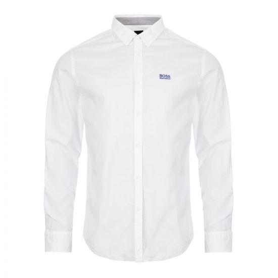 boss athleisure shirt biado 50408848 100 white