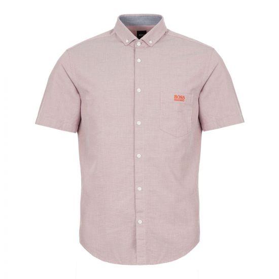 boss short sleeve shirt buxty r 50415424 480 red