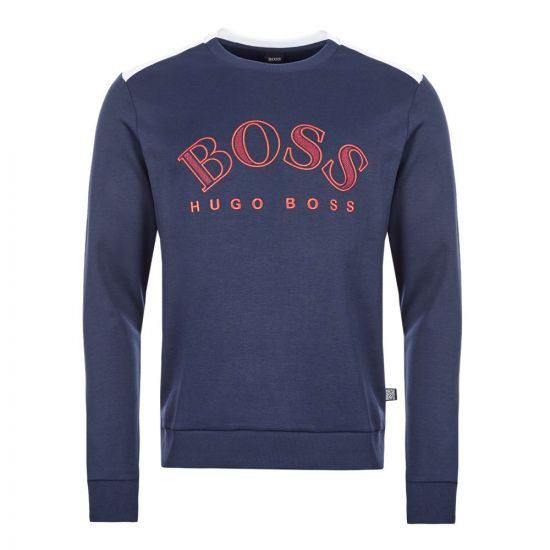 boss athleisure sweatshirt salbo 50418718 410 navy
