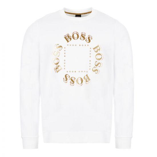 BOSS Athleisure Sweatshirt Salbo Circle - Open White 21742CP -1