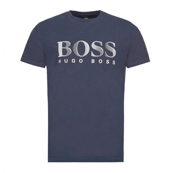 BOSS Bodywear T-Shirt – Navy / White  21642CP -1