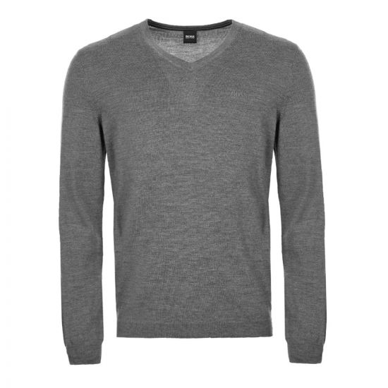BOSS Athleisure Knitted Sweatshirt 50413721 031 Grey