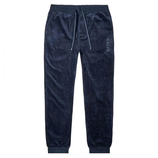 BOSS Bodywear Sweatpants Velour - Dark Blue 21085CP -1