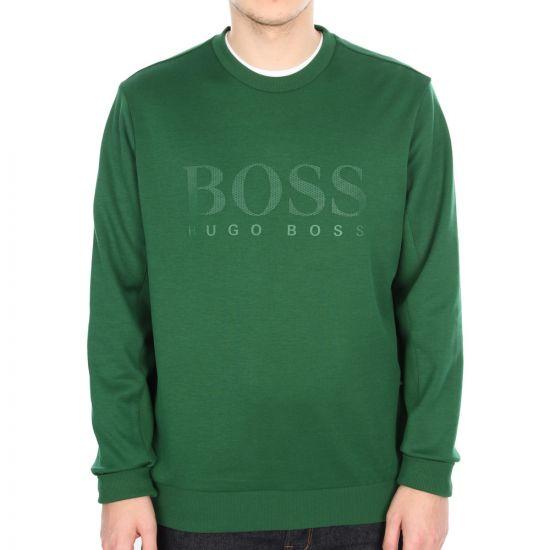 Hugo Boss Green Salbo Sweatshirt in Green