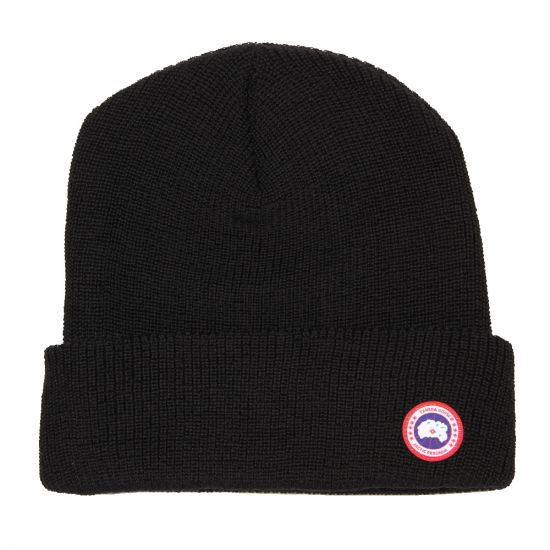 Canada Goose Watch Hat Black Merino Wool 5219M 61