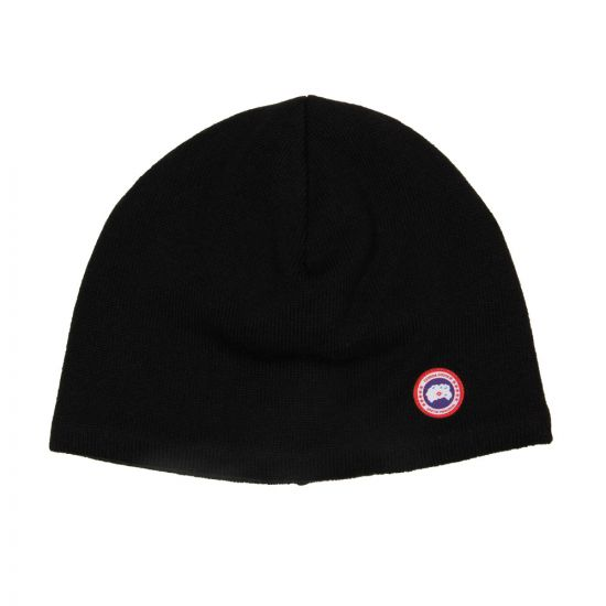 Canada Goose Beanie Black Merino Wool 5210MR61