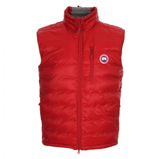 Canada Goose Gilet Redwood Red Lodge Down Filled 5058M R