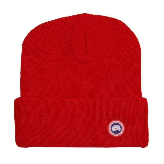Canada Goose Watch Hat Red Merino Wool 5219M