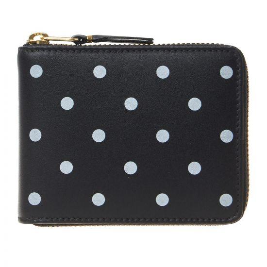 Comme des Garcons Wallet Polka Dot | SA7100PD Black